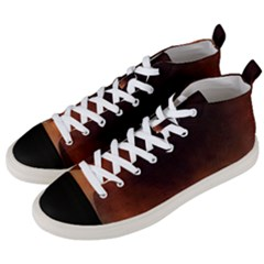 Ombre Men s Mid Top Canvas Sneakers by ValentinaDesign