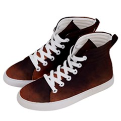Ombre Men s Hi Top Skate Sneakers by ValentinaDesign