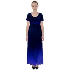 Ombre High Waist Short Sleeve Maxi Dress