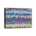 Zig zag boats Mini Canvas 7  x 5