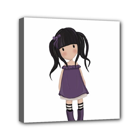 Dolly Girl In Purple Canvas Travel Bag by Valentinaart