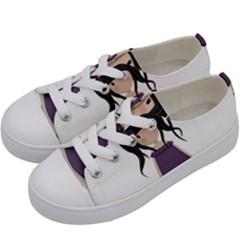 Dolly Girl In Purple Kids  Low Top Canvas Sneakers by Valentinaart