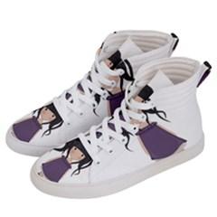 Dolly Girl In Purple Women s Hi Top Skate Sneakers by Valentinaart