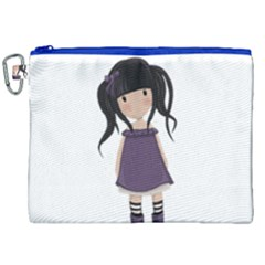 Dolly Girl In Purple Canvas Cosmetic Bag (xxl) by Valentinaart