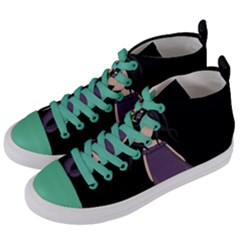 Dolly Girl In Purple Women s Mid Top Canvas Sneakers by Valentinaart