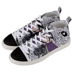 Dolly Girl In Purple Men s Mid Top Canvas Sneakers by Valentinaart