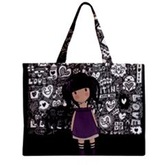 Dolly Girl In Purple Zipper Mini Tote Bag by Valentinaart