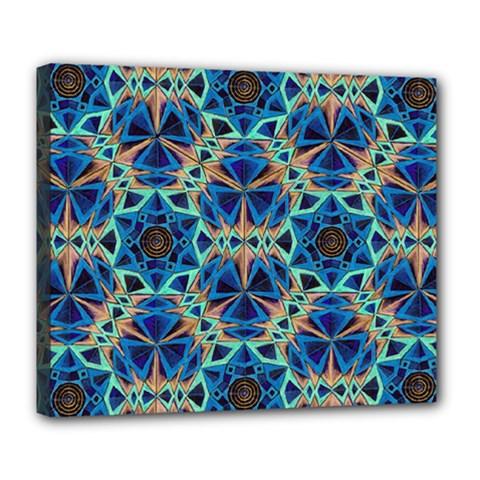 Diamond Star Blue 01 Deluxe Canvas 24  X 20   by Cveti
