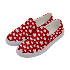 Cute Canada Shoes  Women s Canvas Slip Ons by CanadaSouvenirs