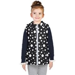 White On Black Polka Dot Pattern Kid s Puffer Vest