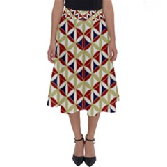 Flower Of Life Pattern 4 Perfect Length Midi Skirt