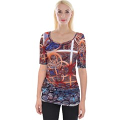 Complexity Chaos Structure Wide Neckline Tee by Onesevenart