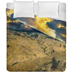 Hills Countryside Landscape Nature Duvet Cover Double Side (california King Size) by Onesevenart