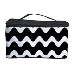 Wave Pattern Wavy Halftone Cosmetic Storage Case by Celenk