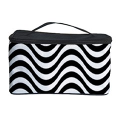 Wave Pattern Wavy Water Seamless Cosmetic Storage Case by Celenk