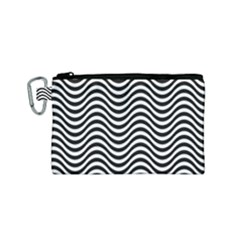 Wave Pattern Wavy Water Seamless Canvas Cosmetic Bag (small) by Celenk