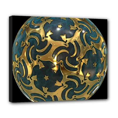 Sphere Orb Decoration 3d Deluxe Canvas 24  X 20   by Celenk