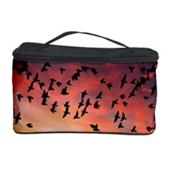 Sunset Dusk Silhouette Sky Birds Cosmetic Storage Case by Celenk