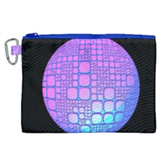Sphere 3d Futuristic Geometric Canvas Cosmetic Bag (xl) by Celenk