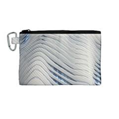 Aqua Building Wave Canvas Cosmetic Bag (medium) by Celenk