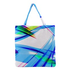 Lines Vibrations Wave Pattern Grocery Tote Bag