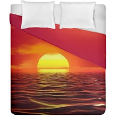 Sunset Ocean Nature Sea Landscape Duvet Cover Double Side (california King Size)