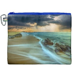 Beach Shore Sand Coast Nature Sea Canvas Cosmetic Bag (xxxl) by Celenk
