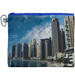 Skyscraper City Architecture Urban Canvas Cosmetic Bag (xxxl) by Celenk