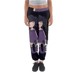 Dolly Girl And Dog Women s Jogger Sweatpants