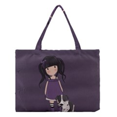 Dolly Girl And Dog Medium Tote Bag by Valentinaart