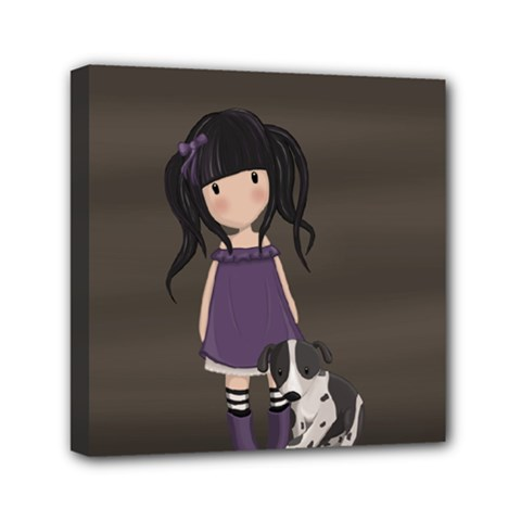 Dolly Girl And Dog Canvas Travel Bag by Valentinaart