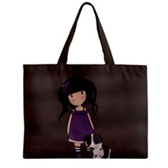 Dolly Girl And Dog Zipper Mini Tote Bag by Valentinaart