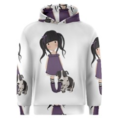 Dolly Girl And Dog Men s Overhead Hoodie