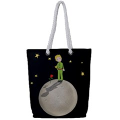The Little Prince Full Print Rope Handle Tote (small) by Valentinaart