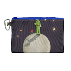 The Little Prince Canvas Cosmetic Bag (large) by Valentinaart