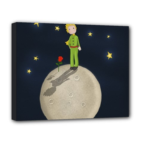 The Little Prince Deluxe Canvas 20  X 16   by Valentinaart
