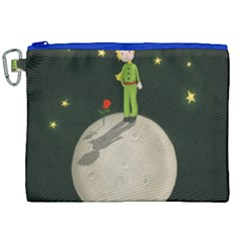 The Little Prince Canvas Cosmetic Bag (xxl) by Valentinaart