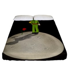 The Little Prince Fitted Sheet (king Size) by Valentinaart