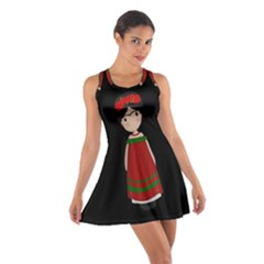 Frida Kahlo Doll Cotton Racerback Dress by Valentinaart