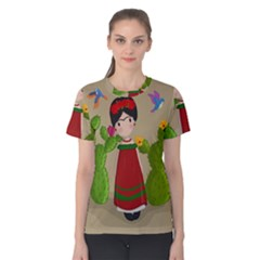 Frida Kahlo Doll Women s Cotton Tee by Valentinaart