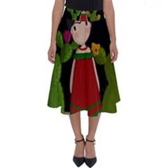 Frida Kahlo Doll Perfect Length Midi Skirt by Valentinaart