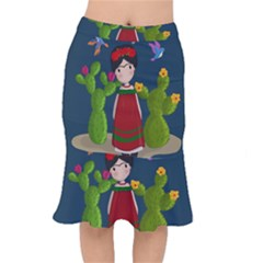 Frida Kahlo Doll Mermaid Skirt by Valentinaart
