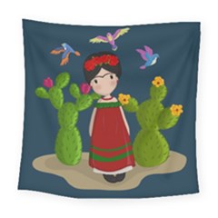 Frida Kahlo Doll Square Tapestry (large) by Valentinaart