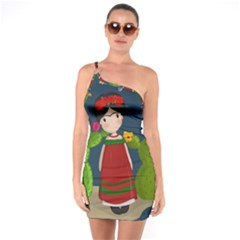 Frida Kahlo Doll One Soulder Bodycon Dress by Valentinaart