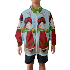 Frida Kahlo Doll Wind Breaker (kids)