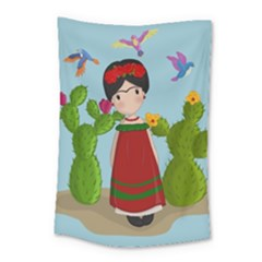 Frida Kahlo Doll Small Tapestry by Valentinaart