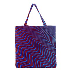 Wave Pattern Background Curves Grocery Tote Bag