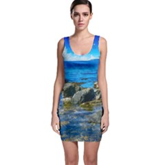 Shoreline Sea Coast Beach Ocean Bodycon Dress