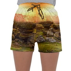 Rocks Outcrop Landscape Formation Sleepwear Shorts by Celenk