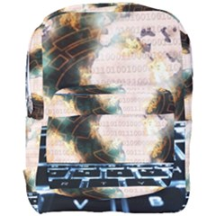 Ransomware Cyber Crime Security Full Print Backpack by Celenk